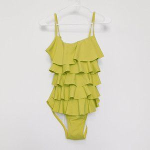 Michael Kors chartreuse ruffle swimsuit 8